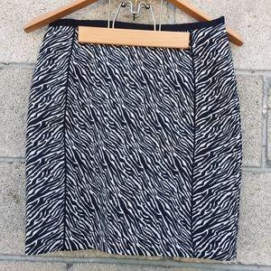 NWT H&M zebra print 6 skirt